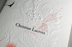 CHRISTIAN LACROIX HAUTE COUTURE INVITATIONS By Antoine + Manuel