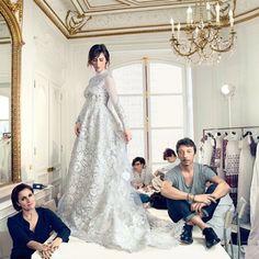 Sophie Hunter's Valentino Wedding Dress #maternity #maternitybride