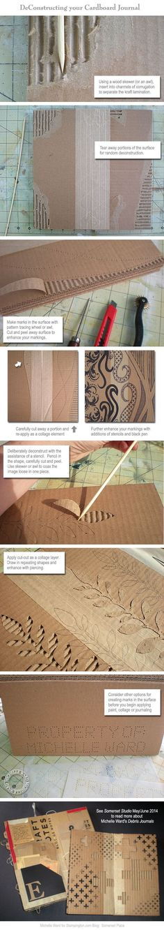 How to Construct and Deconstruct a Cardboard Journal with Guest Artist Michelle Ward - Somerset Place: The Official Blog of Stampington & Company