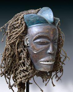 Dance mask mwana pwo, tribe of the Chokwe, D. R. Congo, Angola