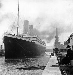 The Titanic at the docks of Southampton, England, April 1912.