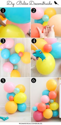 Party Ballons, Balloon Decorations Party, Balloon Garland, Balloon Arch, Diy Christmas Lights, Bookmark Craft, First Birthday Decorations, Finding A Hobby, Baby Girl First Birthday