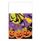 102 in. Witch's Crew Rectangular Plastic Table Cover (3-Pack)