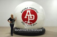 Azusa Pacific University Inflatable Volleyball #inflatablevolleyball #azusapacificuniversity #APUniversity #volleyball