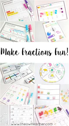 Check out this exciting set of teaching resources for teaching fractions in your elementary classroom! These engaging lessons are common core aligned and packed with games, ideas, activities, and worksheets! Everything you need for your math workshop unit on fractions! $
