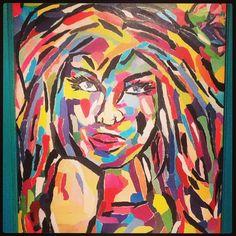 "16x20 mixed media on canvas ""Lola"" #LindseyJohnsonArtandDesigns #sold"