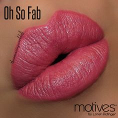 """""""Oh So Fab"""".  Motives® Moisture Rich Lipstick. Available at http://us.opc3.com/mabelchan/product/motives-moisture-rich-lipstick/?id=112MRL&skuName=oh-so-fab&idType=sku"""