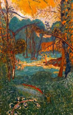 Landscape painting by Pierre Bonnard Pierre Bonnard, Paul Gauguin, Abstract Landscape, Landscape Paintings, Abstract Oil, Abstract Paintings, Oil Paintings, Watercolor Landscape, Art Gallery