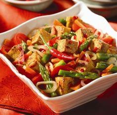 Spicy Tofu & Vegetable Stir-fry