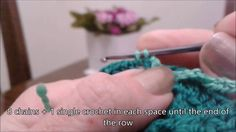 Crocheting in circles, 4th row (English)