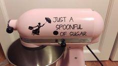 Spoonful of Sugar Kitchenaid Mixer Vinyl Decal Sticker Dessert Mary Poppins - Living Word Designs, Inspirational Home Decor