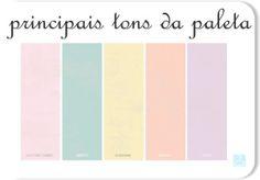Paleta de Cores da festa: Candy Colors, sendo rosa, azul(tipo menta), amarelo e cinza.