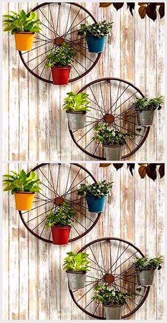 30 Amazing DIY ideas for decorating your garden uniquely - Home Decoraiton, #Amazing #Decora... #gardendiyideas Diy Home Crafts, Garden Crafts, Garden Projects, Diy Projects, House Plants Decor, Plant Decor, Garden Deco, Garden Art, Bicycle Decor