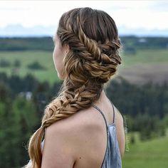 Mixed braids by @braidsbunsandbeauty ✨