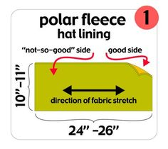 How to line a knit hat with fleece