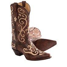 Tony Lama Santa Fe Cowboy Boots - N-Toe (For Women) in Earth Santa Fe - Closeouts