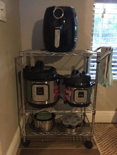 6 Instant Pot Storage Solutions Besides the Beloved Target Cart Under Cabinet Storage, Pot Storage, Storage Cart, Storage Cabinets, Table Storage, Kitchen Appliance Storage, Kitchen Storage Solutions, Small Appliances, Kitchen Appliances