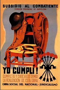 Nota del autor :    Durante la Guerra Civil Española hubo  una enorme difusión de la ideología de uno y otro bando a través de los  cartel...