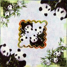 100% Silk Scarf Square Women Scarf Panda Neckerchief Small Square Silk Scarf 2017 Top Foulard Mini Bandana for Luxury Lady Gift