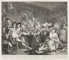 William Hogarth (1697-1764), A Rake's Progress, Plate 3 (The Rake at the Rose Tavern), 1735. Etching and Engraving, 35,6 x 40,8 cm. Städel Museum, Frankfurt am Main. Photo: Städel Museum – ARTHOTHEK