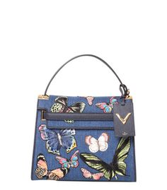 Valentino 'My Rockstud' Denim Butterfly Bag