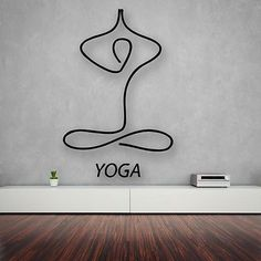 Wall Stickers Vinyl Decal Yoga Relaxation Meditation Lotus (ig1703)