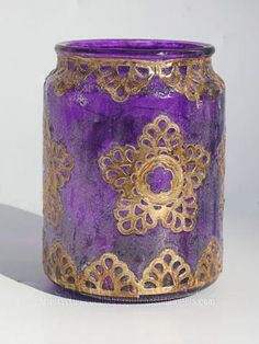 http://tiny.cc/SB-PreOrder -- An altered candle jar by Designer Sherry using the new die sets Moroccan Motifs and Moroccan Accents! See how she did this at http://tiny.cc/SB7-Sherry