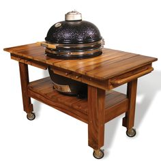 High-Quality Wood Cart for The Saffire Grill & Smoker (Cart Only)