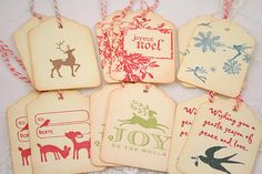 Christmas Tags - Sampler Gift Tag Set - Vintage Inspired