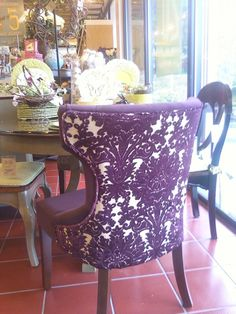 Gorgeous Purple Chair I Saw At Pier 1