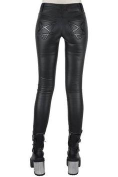 Women's Bottoms | Jeans, Leggings, Skirts & Shorts | Killstar Killstar Clothing, Goth Skirt, Gothic Leggings, Fashion Pants, Leather Fashion, Skinny Fit, Short Skirts, Leather Pants, Lederhosen