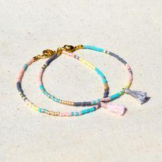 Multicolor Tassel Bracelets  Pastel by Kurafuchi on Etsy, $12.50