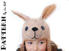 Crochet Joey Kangaroo Hat PDF Pattern, for your little rock wallaby! Joey Kangaroo, Kangaroo Baby, Baby Hat Patterns, Knitting Patterns, Crochet Patterns, Crochet Ideas, Kangaroo Costume, Winnie The Pooh Costume, I Love Diy