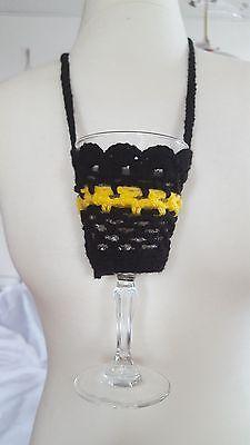 Weinglashalter - Halskette - gehäkelt  Glashalterhalskette