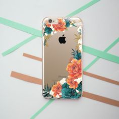 Flower iPhone 6s Pink 7 iPhone Case iPhone Case Clear 4s iPhone se Nature iPhone 5 Case Sweet iPhone 6 Plus Clear Case Leaf  OC_036
