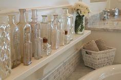 Cute idea for a bathtub shelf!
