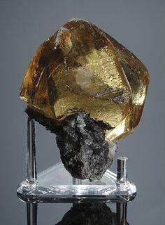 calcite with stibnite from China