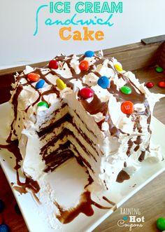 ice cream sa Ice Cream Sandwich Cake No Bake Recipe (SUPER Easy!)