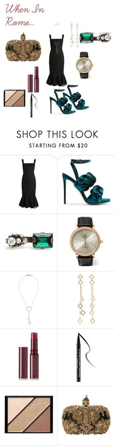 """Night Out"" by teez-fashionxc on Polyvore featuring Marco de Vincenzo, IWC Schaffhausen, Isabel Marant, Arme De L'Amour, Wander Beauty, Too Faced Cosmetics, Elizabeth Arden and Alexander McQueen"