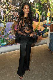 Chanel Iman Sheer Top