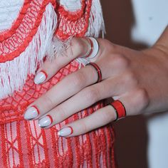 Runway Nails: Outlined Negative Space