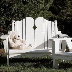 Uwharrie Nantucket 2 Seater Kids Adirondack Chair Finish: Forest Green Wash