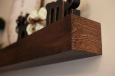 Wood Wall Shelf Mantle Beam Style in lengths of 48 by 302WoodWorks