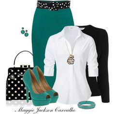 church outfit fall A fashion look from August 2013 featuring button-down shirts, merino wool cardigan and bodycon skirt. Browse and shop related looks. Mode Outfits, Fashion Outfits, Womens Fashion, Fashion Trends, Woman Outfits, Fashion 2018, Fashion Tips, Style Work, My Style