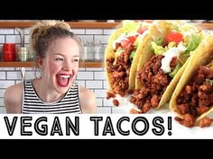 These Vegan Tofu Taco Crumbles are chewy and perfectly spiced. Layer on a tacoj (or burrito) with your favourite toppings for the ultimate vegan taco. These can be made ahead and reheated making dinner a breeze.#itdoesnttastelikechicken #tacos #veganrecipes #vegantaco