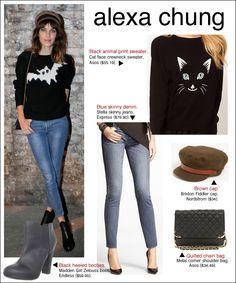 alexa chung london fashion week, alexa chung style