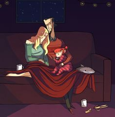 Look, sometimes an artist's just gotta draw cozy domestic AU fanart of their own characters.