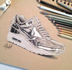 Silver shoe