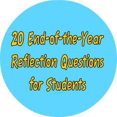 20 Questions to ask your students at the end of the year - use as discussion or journal prompts! #yearendroundup #newteachers