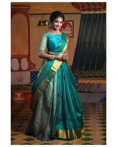 Get inspired if you are a guest in an Indian Wedding in the USA or UK. These hand picked designs are going to rock you in the wedding. wedding saree Indian wedding sarees for guests Lehenga Designs, Half Saree Designs, Sari Blouse Designs, Bridal Blouse Designs, Blouse Patterns, Shirt Designs, Lehenga Saree Design, Lehenga Style Saree, Saree Look